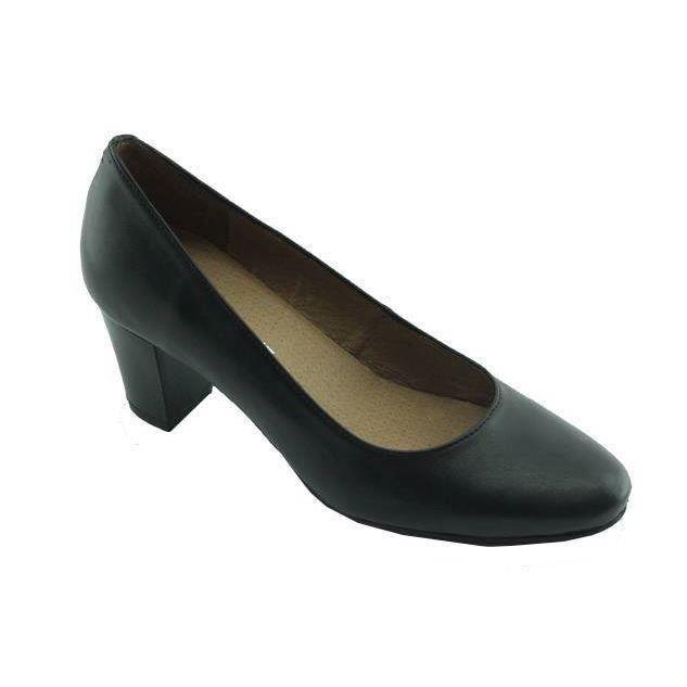 les escarpins d 39 h tesses voltige cuir noir noir noir. Black Bedroom Furniture Sets. Home Design Ideas