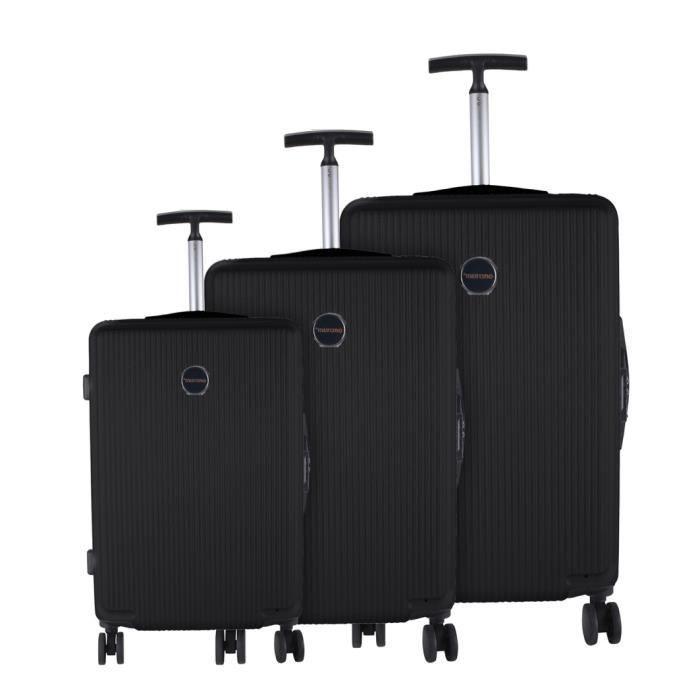 lot de 3 valises murano noir achat vente set de valises 2009828285130 cdiscount. Black Bedroom Furniture Sets. Home Design Ideas