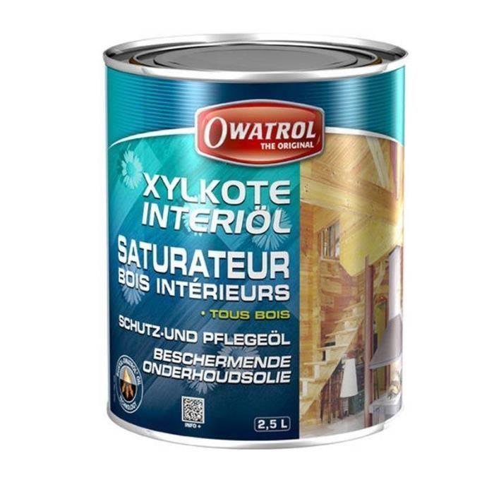 Saturateur huile bois interieur xylkote owatrol 2 5 for Peinture bois interieur sans poncer