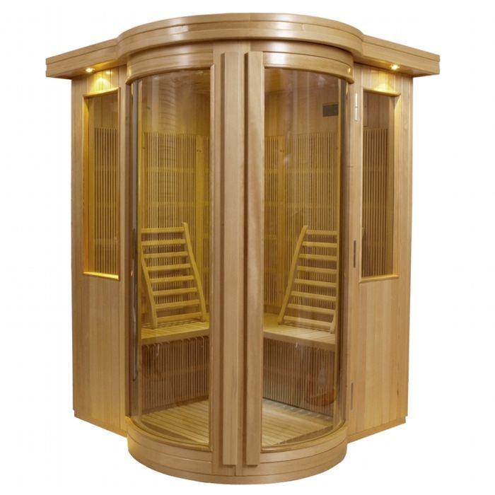 Sauna infrarouge altair 3 places hemlock achat vente kit sauna sauna infr - Achat sauna belgique ...
