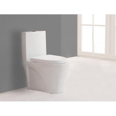 Wc pos daiki avec abattant silencieux blanc achat vente wc toilettes - Abattant wc silencieux ...