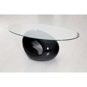 TABLE BASSE Table oeuf noire