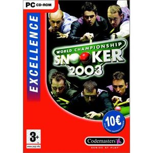 World championship snooker 2003 excellence Pc