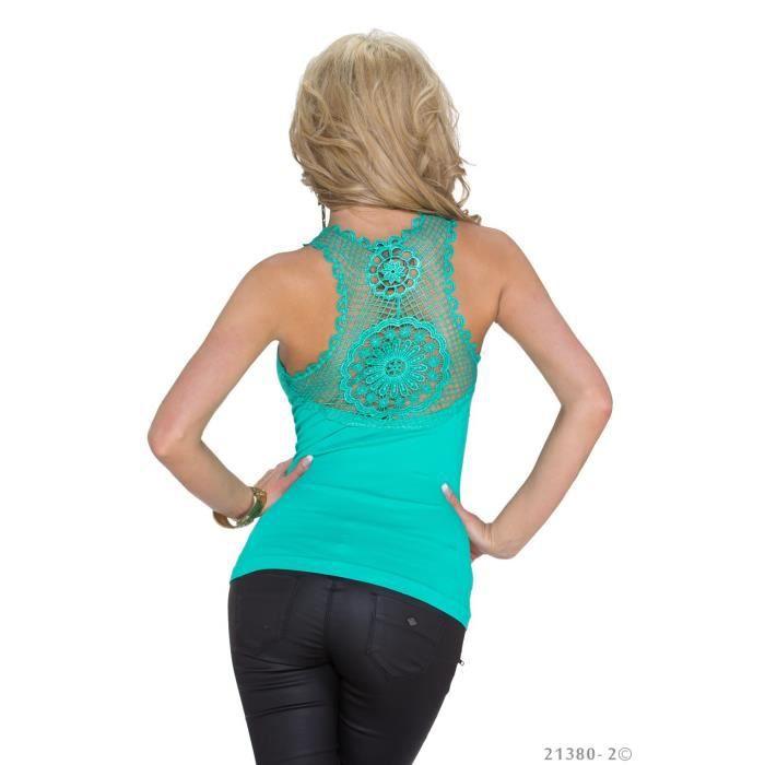 top haut vert debardeur femme dos sexy vert achat vente d bardeur 2009942760131 cdiscount. Black Bedroom Furniture Sets. Home Design Ideas