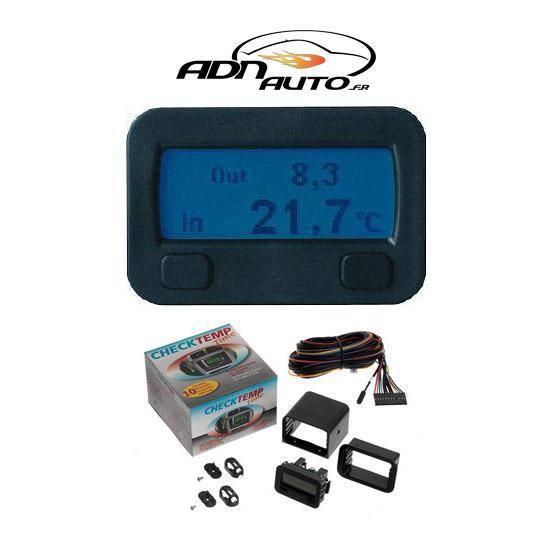 Thermometre digital interieur exterieur 12v c achat for Thermometre digital exterieur