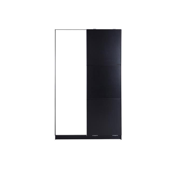 armoire 2 portes noire maison design. Black Bedroom Furniture Sets. Home Design Ideas