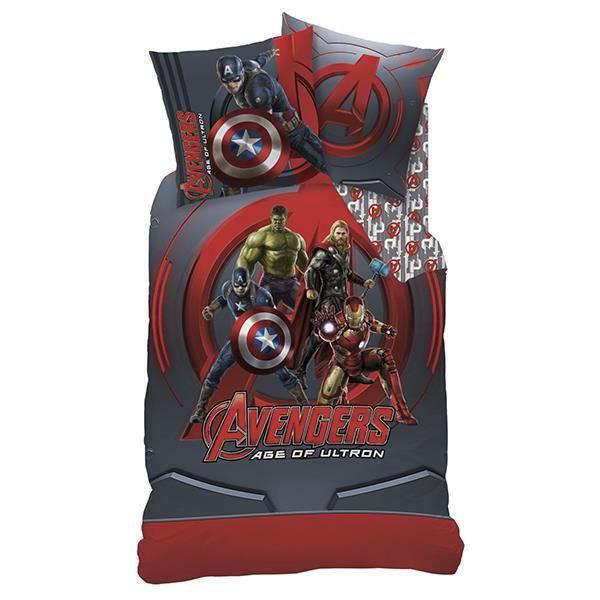 Parure de lit avengers league 140x200 cm 100 achat - Parure de lit spiderman 1 personne ...
