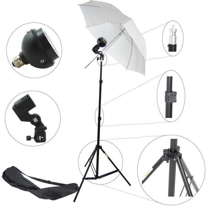 dynasun sdw60 kit d 39 clairage professionnel studio photo avec barebulb lampe esclave flash. Black Bedroom Furniture Sets. Home Design Ideas