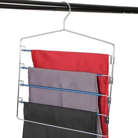Cintre pantalons avec barres pivotante pour 5 pantalons - Cintre pour pantalon ...
