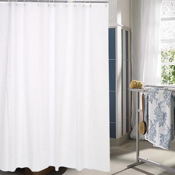 rideau de douche galet imperm able rideau de salle de bain etanche avec des anneaux crochets 200. Black Bedroom Furniture Sets. Home Design Ideas