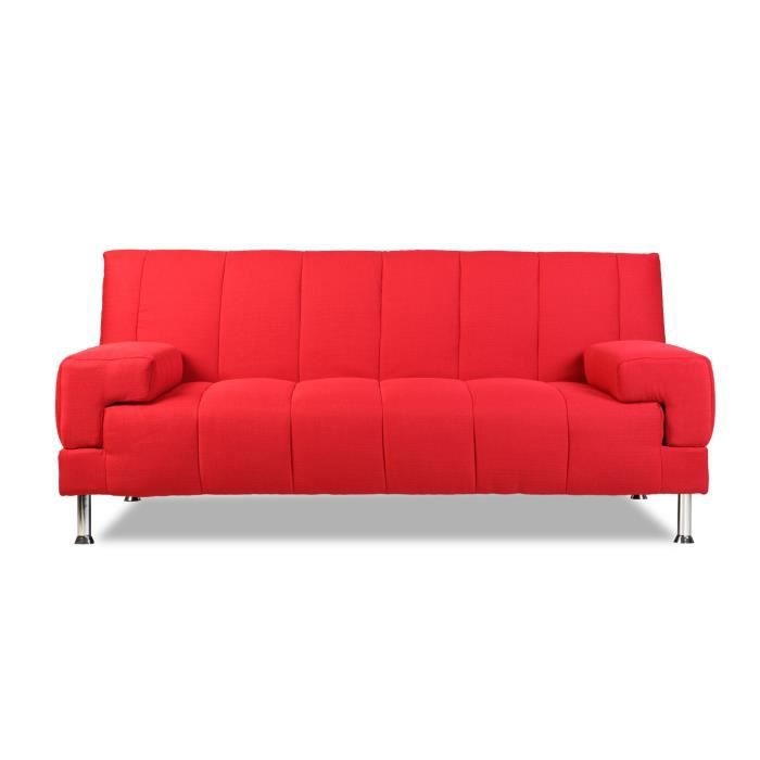 miliboo canap convertible design rouge denver achat vente canap sofa divan cdiscount. Black Bedroom Furniture Sets. Home Design Ideas