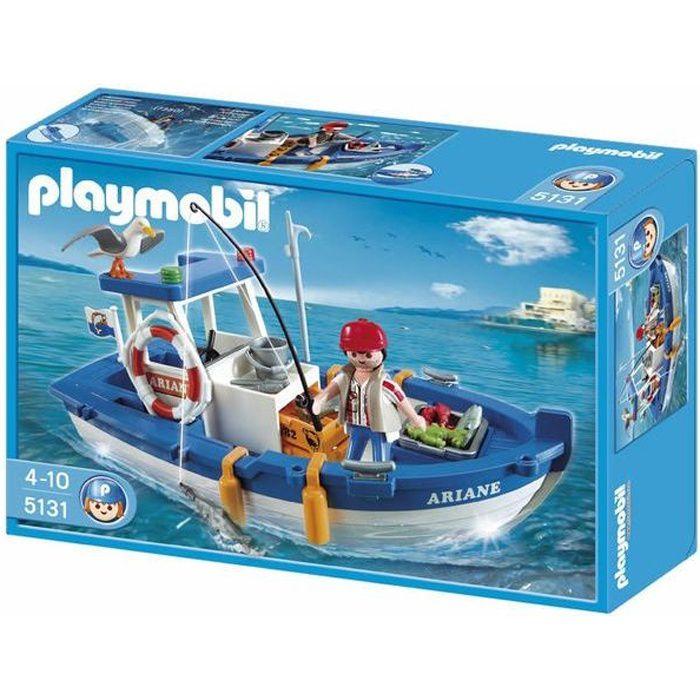 playmobil 5131 bateau de p che achat vente univers miniature cdiscount. Black Bedroom Furniture Sets. Home Design Ideas