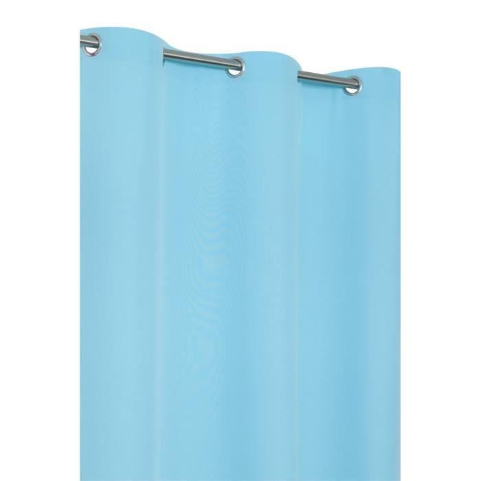 rideau uni 6 oeillets 140x240 cm bleu turquoise achat. Black Bedroom Furniture Sets. Home Design Ideas