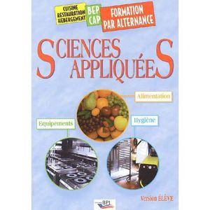 Livre bac pro cap bep multi fili res h tellerie for Sciences appliquees cap cuisine