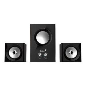 GENIUS Haut parleurs HP SP HF 160 - USB - 12 Watts - Noir - PC / Mac / Smartphone / Tablette / Lecteur MP3 et CD