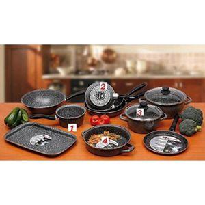 batterie de cuisine 2 poele et 2 casserole achat vente batterie de cuisine 2 poele et 2. Black Bedroom Furniture Sets. Home Design Ideas