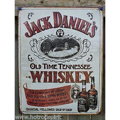 plaque publicitaire whisky jack daniel 39 s 42x31 cm tole m tal d co loft bar 1665 achat vente. Black Bedroom Furniture Sets. Home Design Ideas