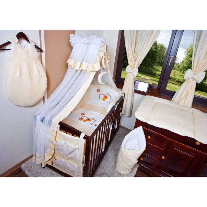 ensemble de 16 pcs motif foot avec rideaux ecru achat vente parure de lit b b ensemble. Black Bedroom Furniture Sets. Home Design Ideas