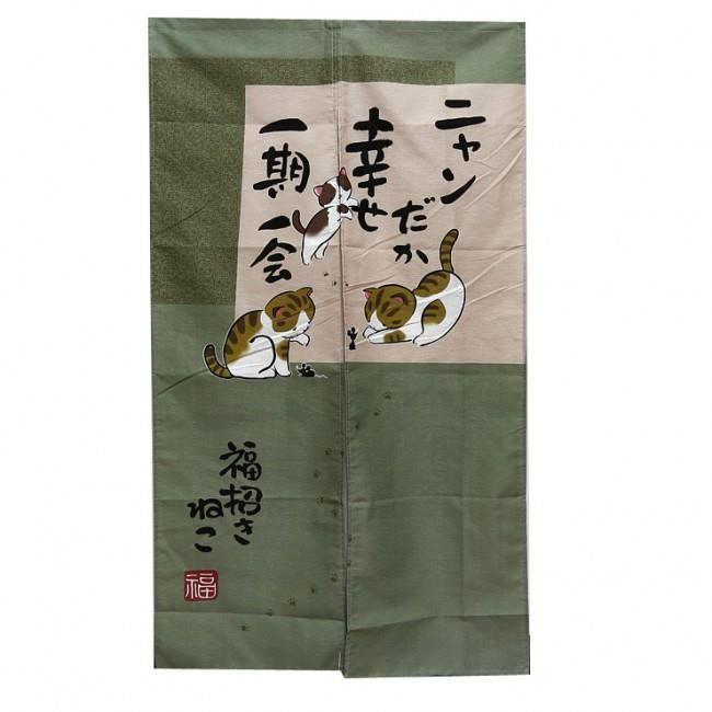 noren design chat japonais rideau nippon achat vente. Black Bedroom Furniture Sets. Home Design Ideas