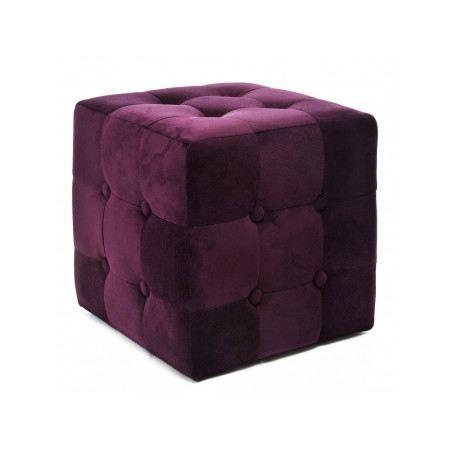 pouf capitonn chesterfield velours violet achat vente pouf poire cdiscount. Black Bedroom Furniture Sets. Home Design Ideas