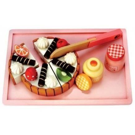 Gateau d 39 anniversaire en bois achat vente dinette - Jeux de cuisine de gateaux d anniversaire ...