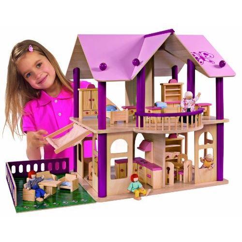 eichhorn 2513 maison de poup e avec meubles achat vente assemblage construction cdiscount. Black Bedroom Furniture Sets. Home Design Ideas