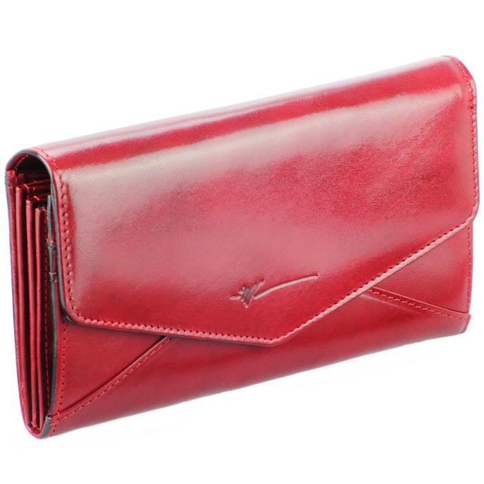 portefeuille femme cuir rouge portefeuille en achat. Black Bedroom Furniture Sets. Home Design Ideas