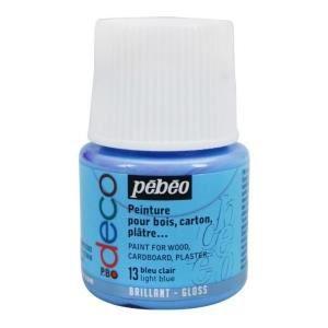 Peinture p bo d co bleu clair brillant 45ml pebeo achat vente peinture acrylique peinture p - Peinture bleu clair ...