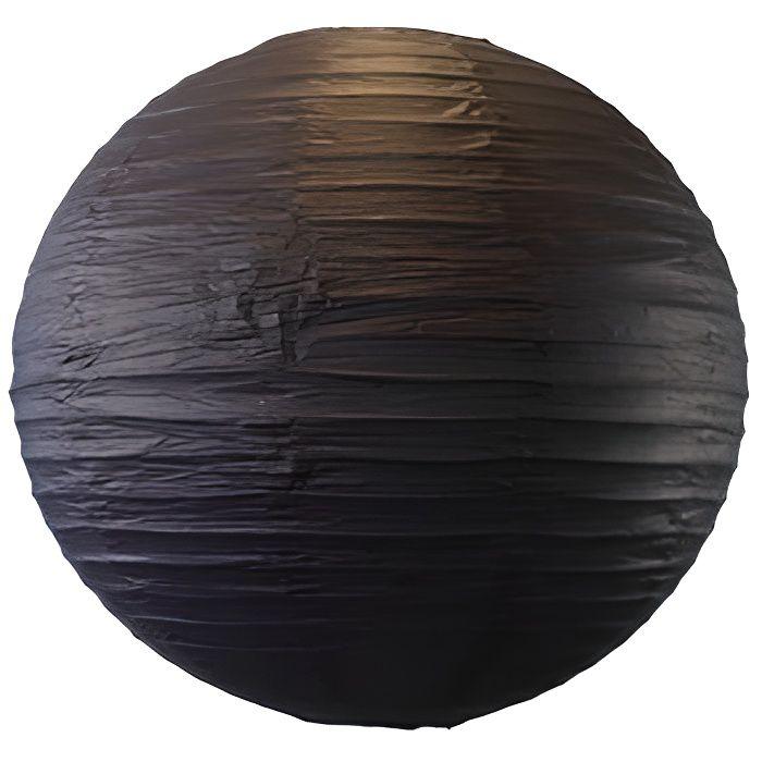 Boule papier 50 cm noir achat vente d co de f te for Boule de papier deco