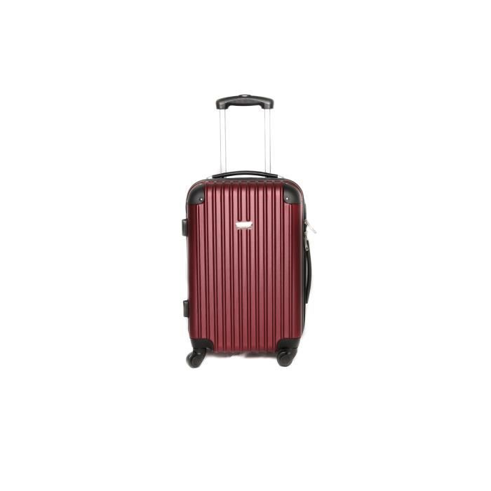 valise trolley taille cabine 4 roues bordeaux achat vente valise bagage valise trolley. Black Bedroom Furniture Sets. Home Design Ideas