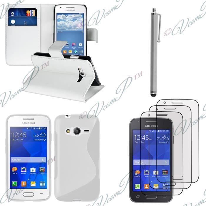 Pour samsung galaxy trend 2 lite sm g318h blanc lot coque etui housse pochette accessoires - Portable samsung galaxy trend lite blanc ...
