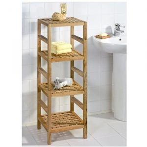 Tag re colonne de rangement 4 tages en bois achat vente colonne salle de bain colonne de for Colonne salle de bain bois