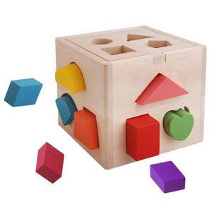 TAPIS ÉVEIL - AIRE BÉBÉ Highdas 13 Hole Cube pour Shape Sorter, Early éduc
