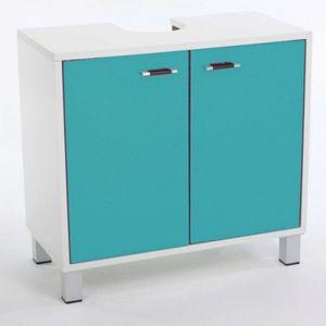 meuble sous lavabo bleu achat vente meuble sous lavabo bleu pas cher cdiscount. Black Bedroom Furniture Sets. Home Design Ideas