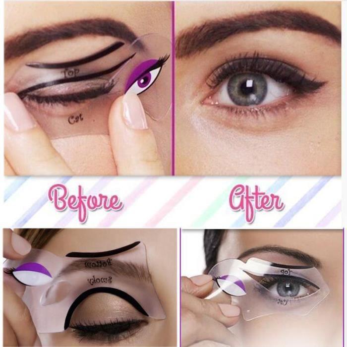 Gabarit D 39 Outil De L 39 Oeil De Chat Eye Liner Maquillage Rapide De Viscosit Achat Vente