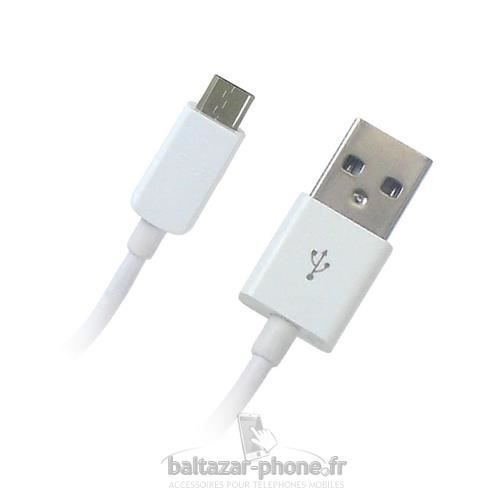 Cable usb blanc chargeur pour wiko getaway achat c ble for Staraddict 3 prix