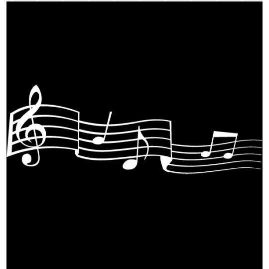 Stickers notes de musique blanc achat vente stickers for Decoration murale note de musique
