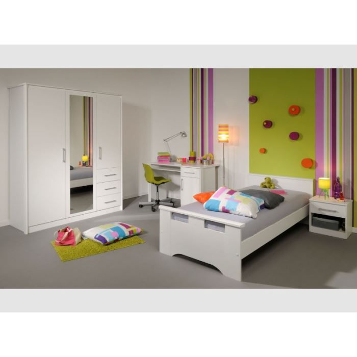 Chambre coucher 3 pi ces swan achat vente chambre for Achat chambre a coucher complete