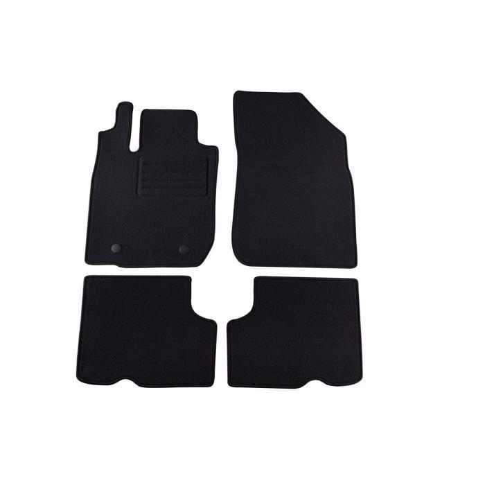 doctor auto tapis moquette noirs 4 pcs tissu rex pour 4x4 pour dacia duster 2010 achat. Black Bedroom Furniture Sets. Home Design Ideas