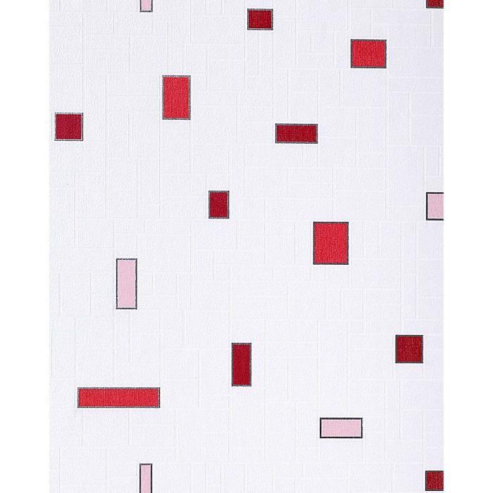 Papier peint vinyle tr s r sistant edem 584 24 aspect carrelage decoratif mos - Papier vinyl salle de bain ...