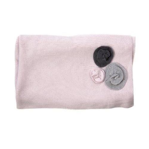 les petites choses couverture flora en laine m rinos rose p le rose achat vente couverture. Black Bedroom Furniture Sets. Home Design Ideas
