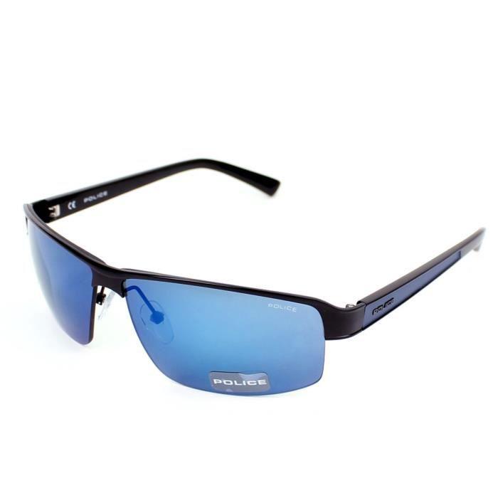 lunettes de soleil police s8855 noir bleu ve noir bleu achat vente lunettes de soleil. Black Bedroom Furniture Sets. Home Design Ideas