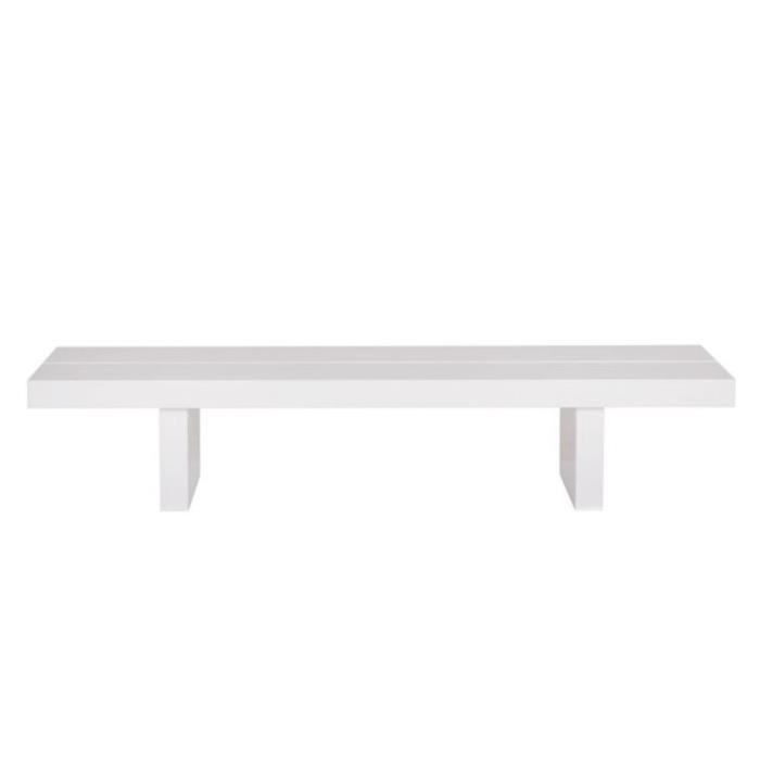 Table basse rectangulaire tokyo 150x62 gloss blanc haute brillance acha - Tables basses rectangulaires ...
