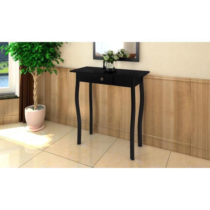 console de style proven al noire achat vente console console de style proven al cdiscount. Black Bedroom Furniture Sets. Home Design Ideas