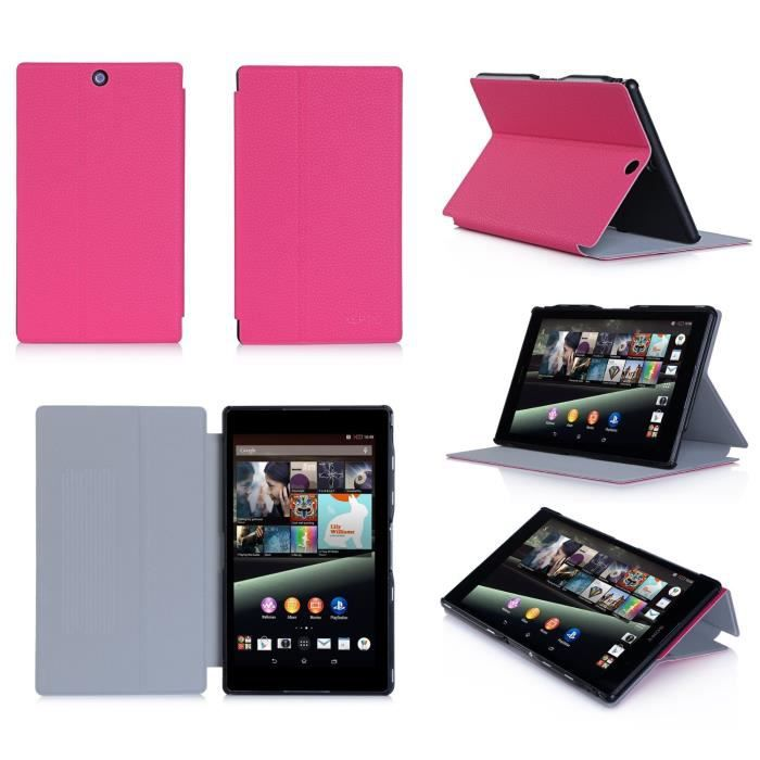 Etui housse sony xperia z3 compact tablet rose achat for Housse xperia x compact