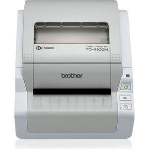 BROTHER Imprimante d'étiquettes TD-4100N - Papier thermique - Rouleau A6 (10 -5 cm) - USB - LAN