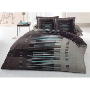 housse de couette avec rabat achat vente housse de couette avec rabat pas cher cdiscount. Black Bedroom Furniture Sets. Home Design Ideas
