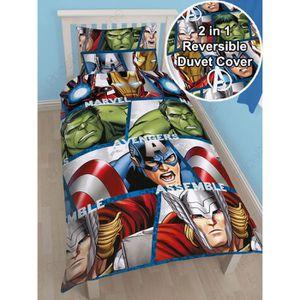 housse de couette marvel achat vente housse de couette marvel pas cher les soldes sur. Black Bedroom Furniture Sets. Home Design Ideas
