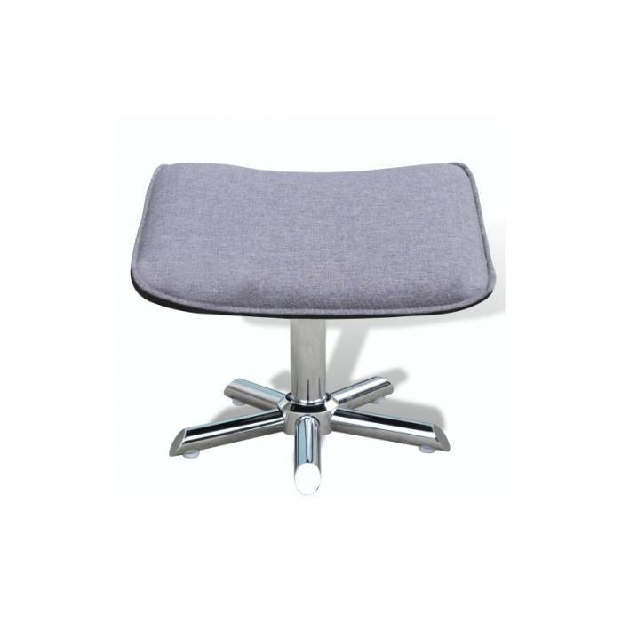 fauteuil avec repose pied gris achat vente fauteuil. Black Bedroom Furniture Sets. Home Design Ideas