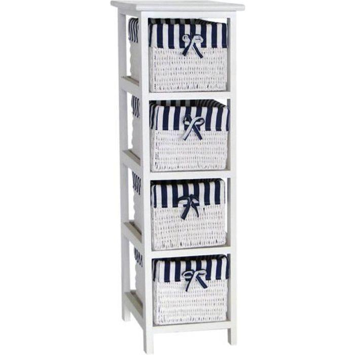 ocean petit meuble de rangement de salle de bain l 25 cm. Black Bedroom Furniture Sets. Home Design Ideas